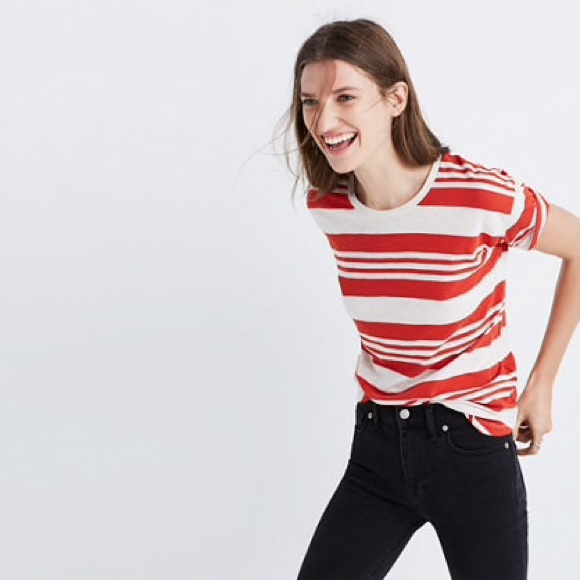 99bcb4216f2bec Madewell Tops - Madewell whisper cotton tee in rampling stripe